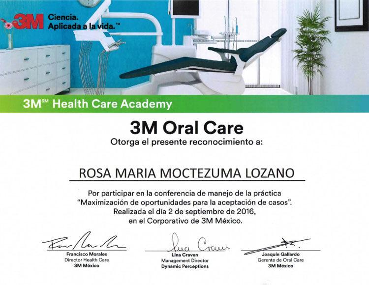 Certificado Dra Rosa Moctezuma 1