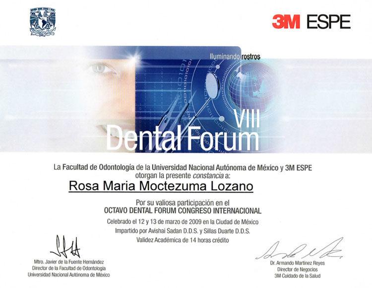 Certificado Dra Rosa Moctezuma 2